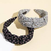 2pcs Flower Pattern Hair Hoop