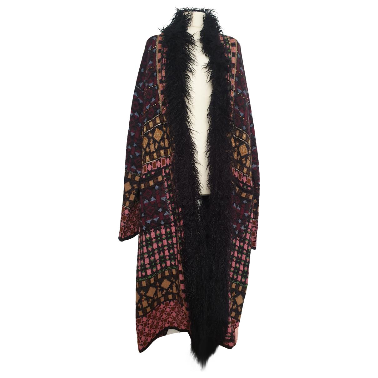 Etro \N Multicolour Wool coat for Women 48 IT