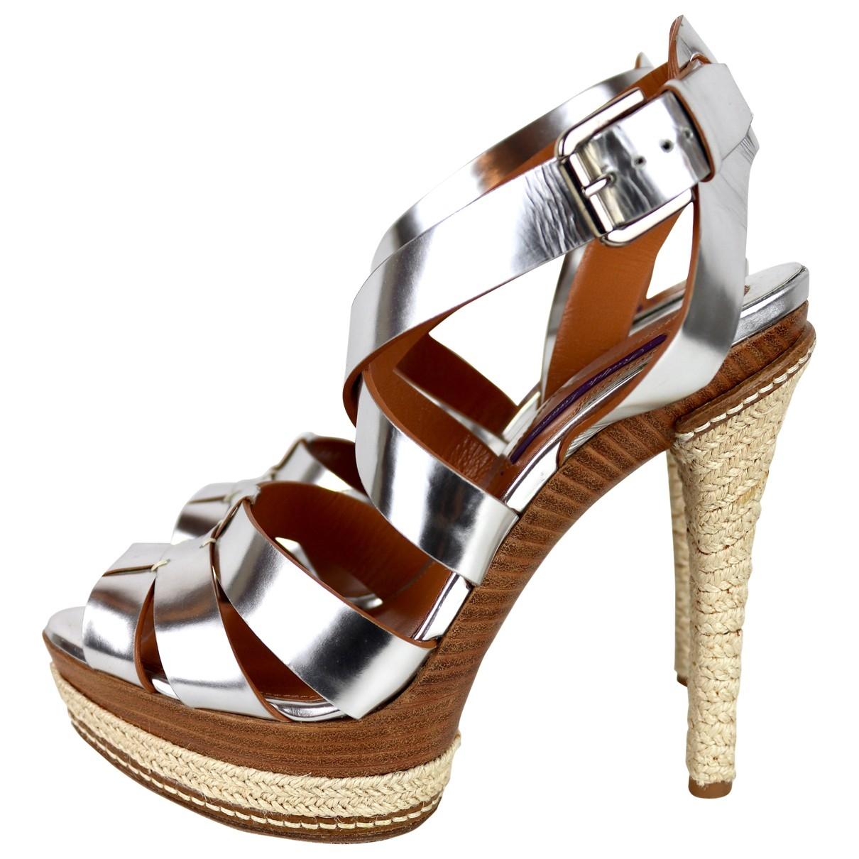 Ralph Lauren \N Silver Leather Sandals for Women 40 EU