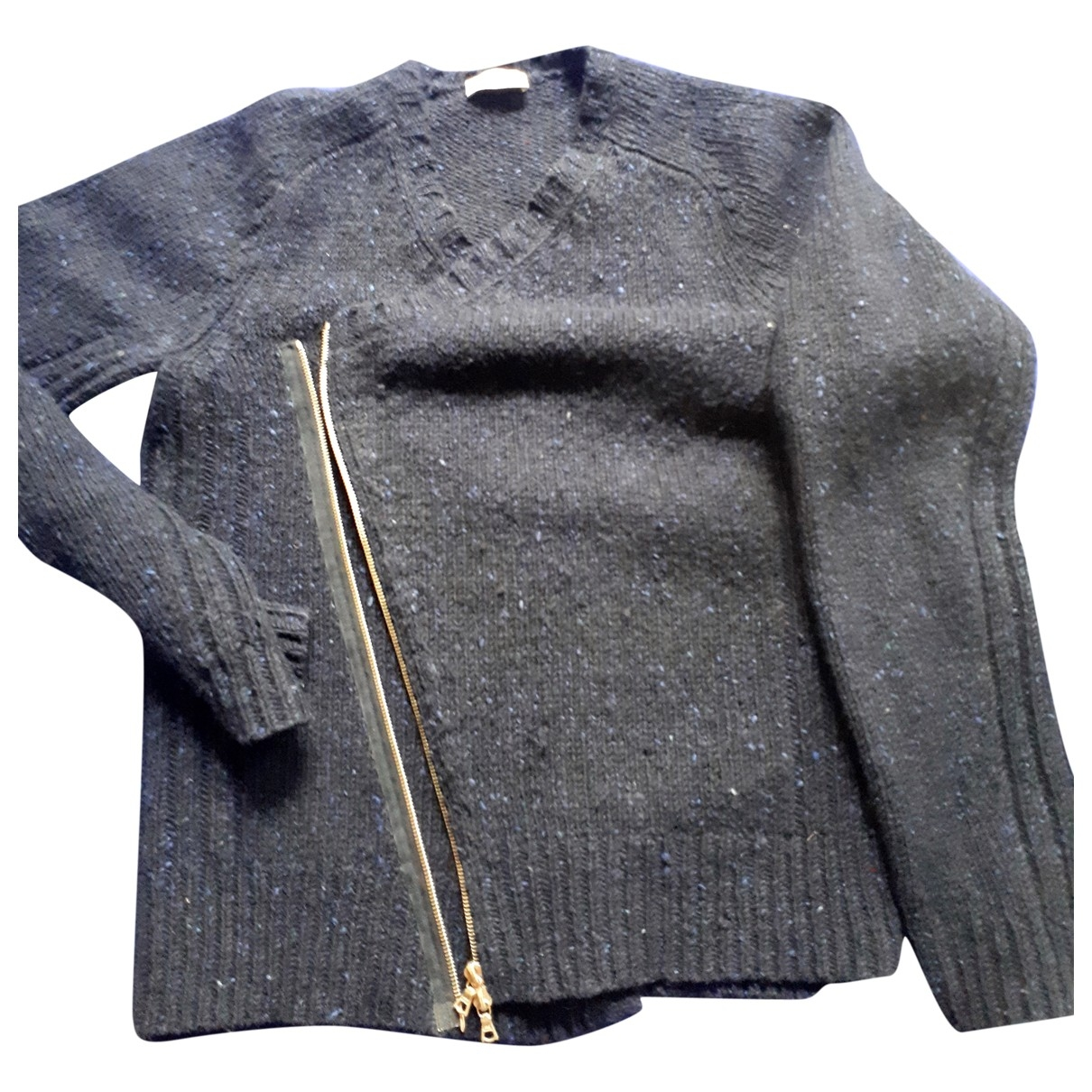 Dries Van Noten \N Pullover.Westen.Sweatshirts  in  Marine Wolle