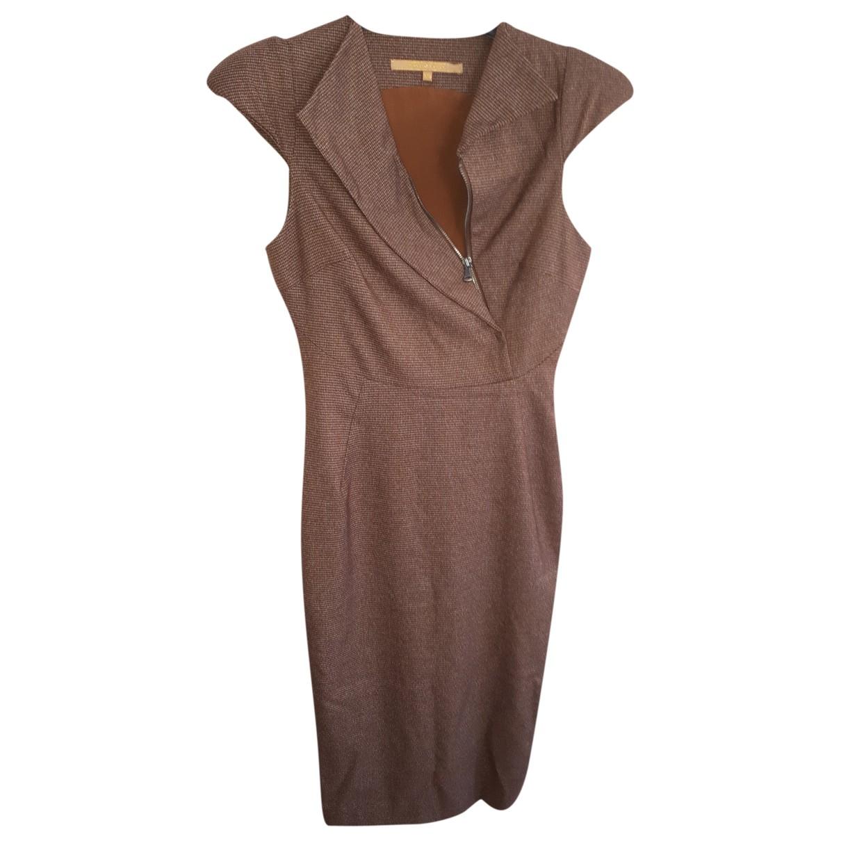 Silvian Heach \N Kleid in  Braun Synthetik