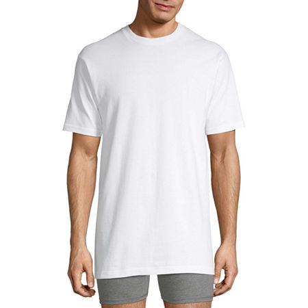 Stafford 4-pk. Heavyweight Crewneck T-Shirts-Big & Tall, 4x-large , White