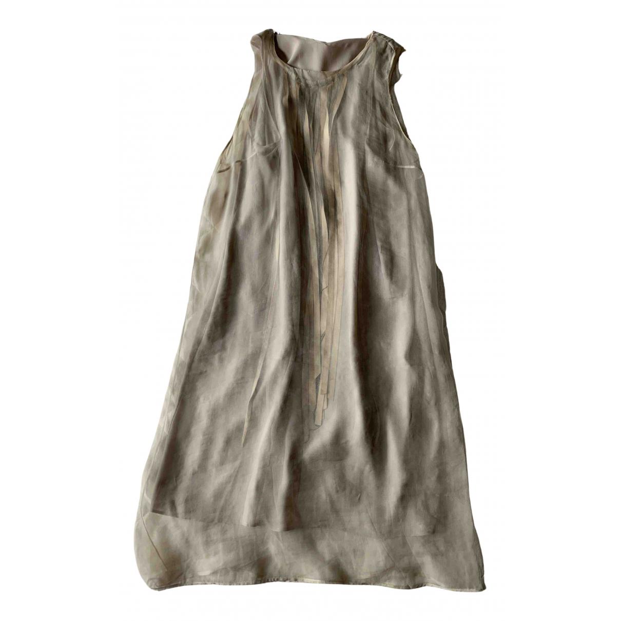Brunello Cucinelli - Robe   pour femme en soie - gris