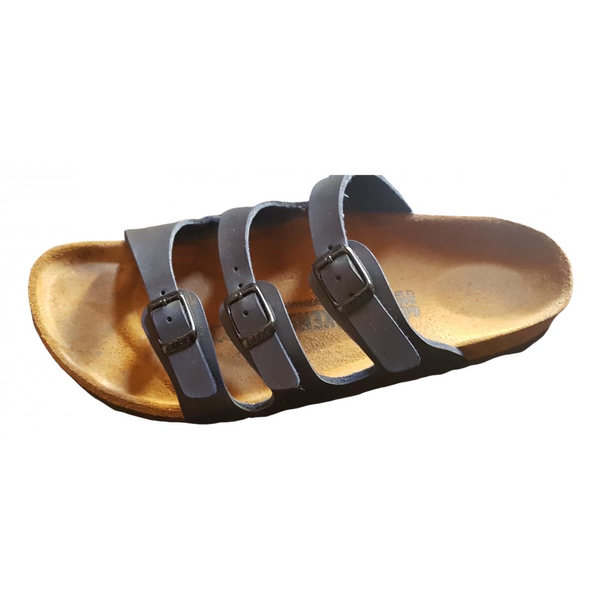 Birkenstock - Sandales   pour femme en cuir - bleu