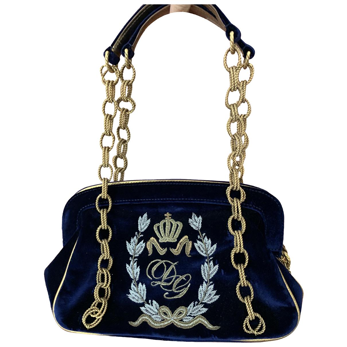 Dolce & Gabbana \N Handtasche in  Blau Samt