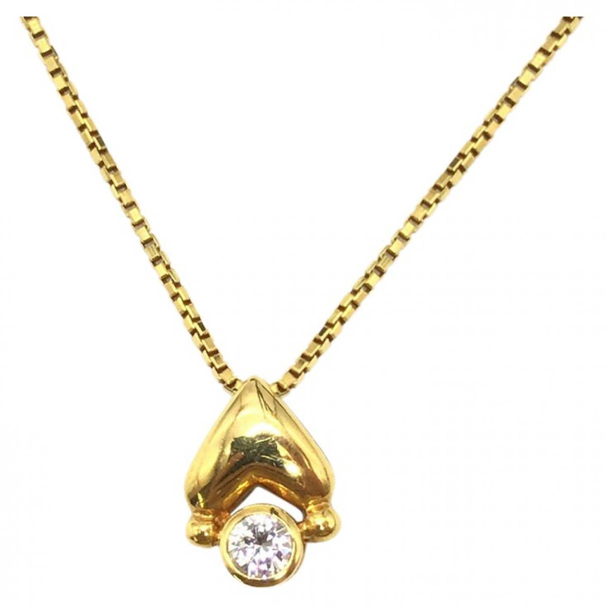 - Collier Motifs Coeurs pour femme en or jaune