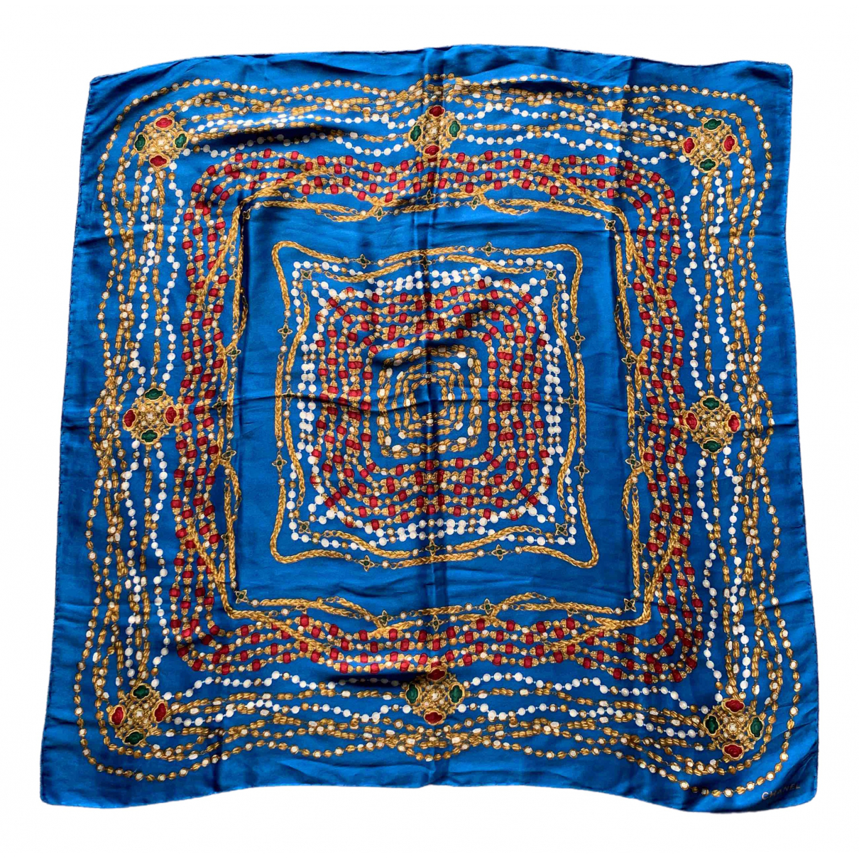 Chanel \N Blue Silk scarf for Women \N