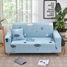 Cloud Print Sofa Cover Without Cushion