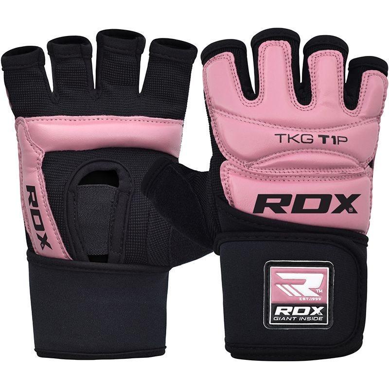 RDX T1 Guantes de Taekwondo Cuero PU Rosa Extra Grande