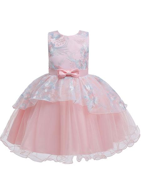Milanoo Flower Girl Dresses Sleeveless Tutu Gown Baby Flower Girl Dresses