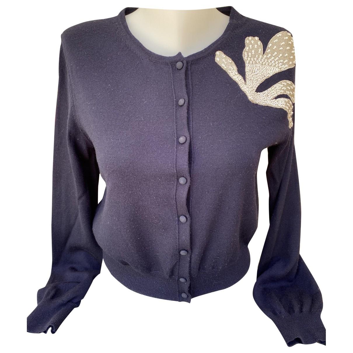 Oscar De La Renta - Pull   pour femme en laine - bleu