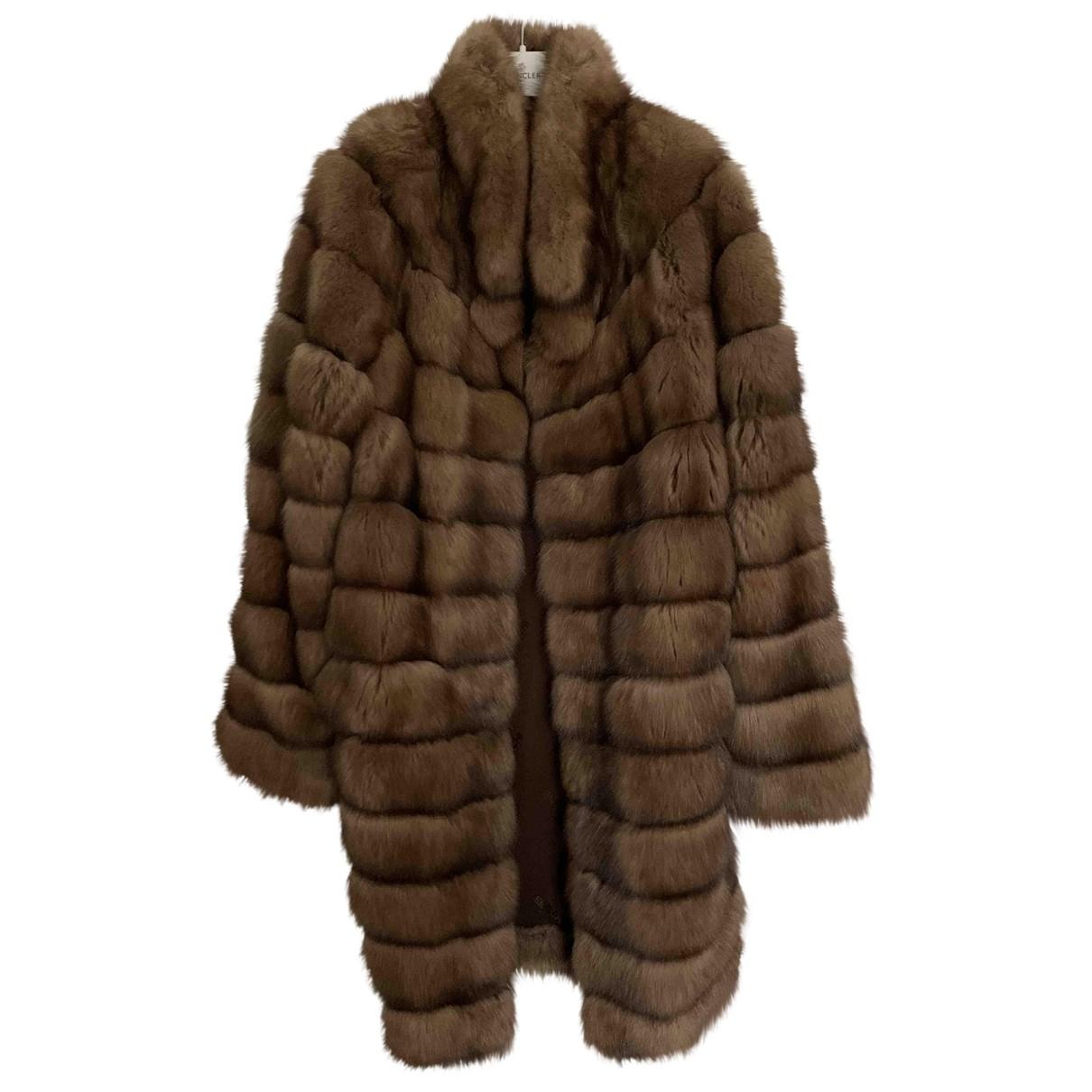 Braschi - Manteau   pour femme en fourrure - gris