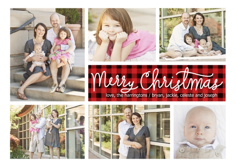 Christmas Photo Cards 5x7 Cards, Premium Cardstock 120lb, Card & Stationery -Simply Plaid Christmas