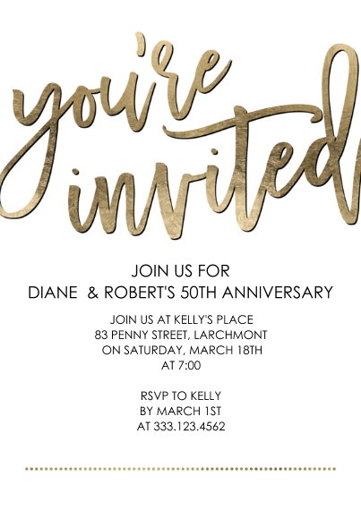 Birthday Party Invites 5x7 Cards, Premium Cardstock 120lb, Card & Stationery -Party Youre Invited Script by Tumbalina