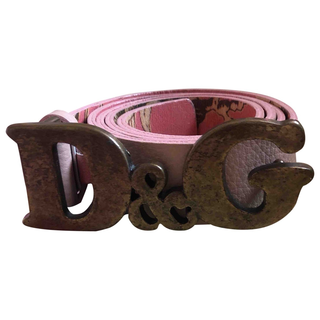Dolce & Gabbana \N Pink Leather belt for Women S International