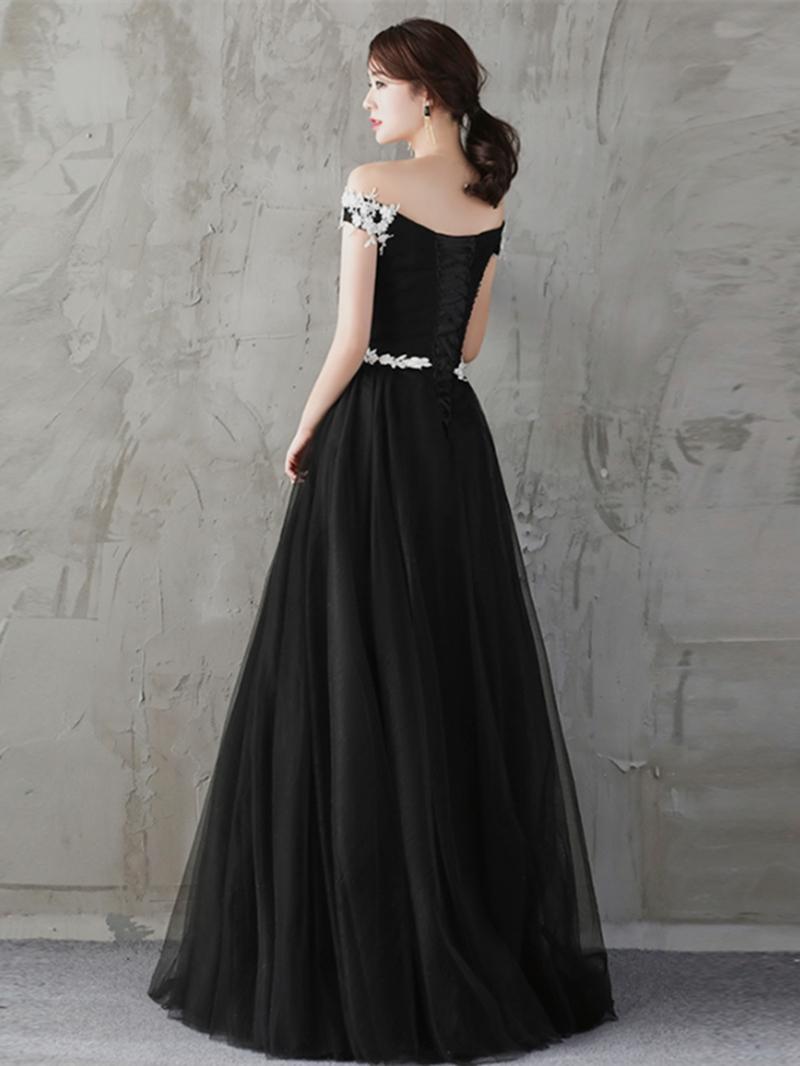 Ericdress A Line Off The Shoulder Applique Long Evening Dress
