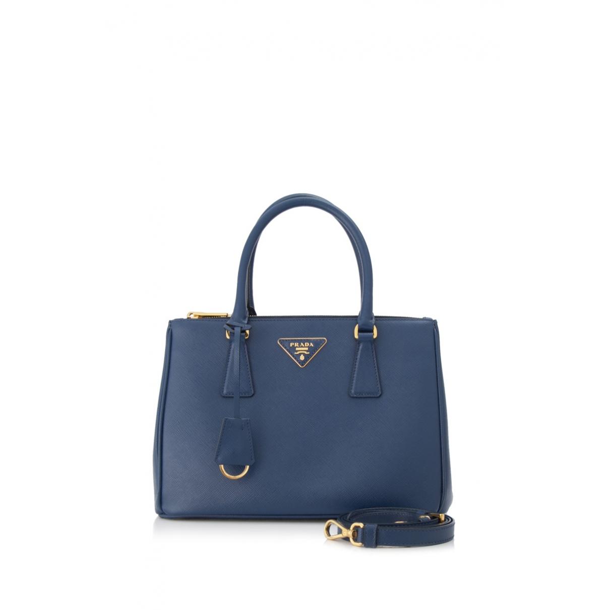 Prada Galleria Blue Leather handbag for Women \N