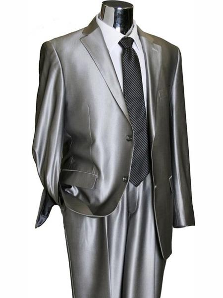 Silver Grey ~ Gray Sharkskin Suit Separate Any Size Jacket & Pants