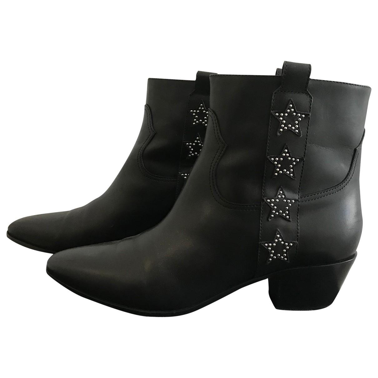 Saint Laurent West Chelsea Black Leather Ankle boots for Women 39.5 EU