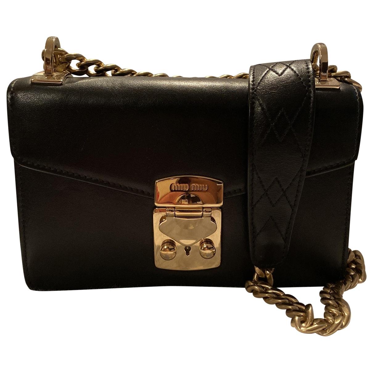 Miu Miu Miu Confidential Black Leather handbag for Women \N