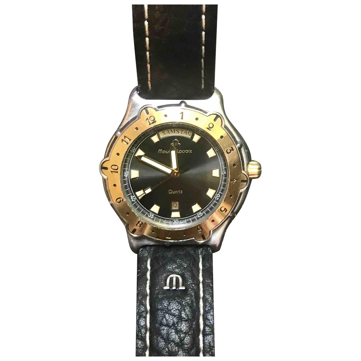 Maurice Lacroix \N Uhr in  Schwarz Stahl