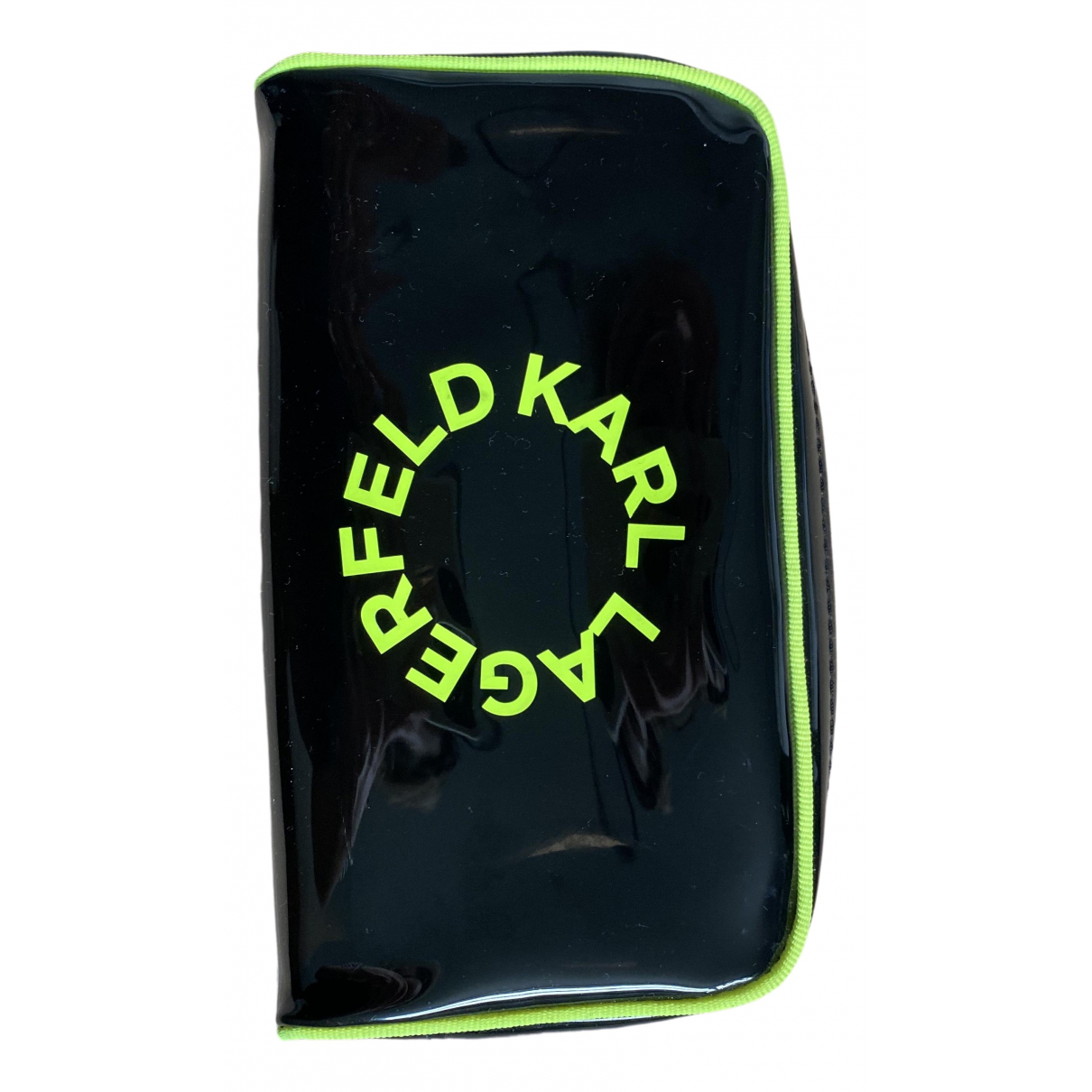 Karl \N Kleinlederwaren in  Schwarz Kunststoff