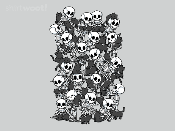 Cat Skull Party T Shirt