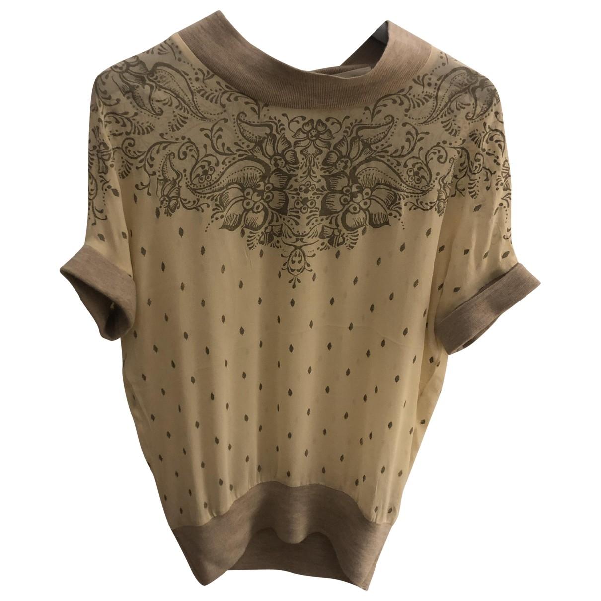 Isabel Marant Etoile - Top   pour femme en soie - beige