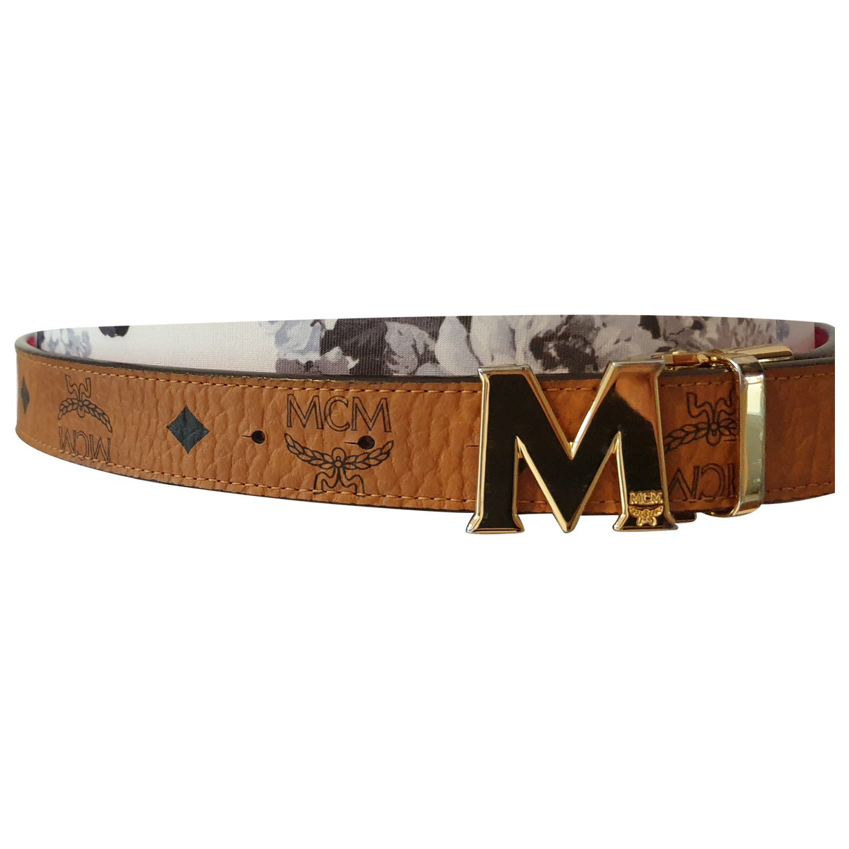 Mcm \N Brown Leather belt for Women S International