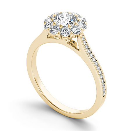 1 1/4 CT. T.W. Round White Diamond 14K Gold Engagement Ring, 8 1/2 , No Color Family