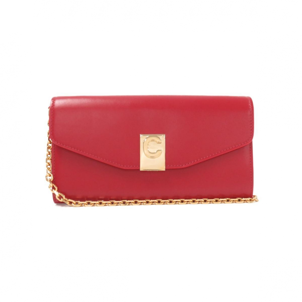 Celine \N Clutch in  Rot Leder