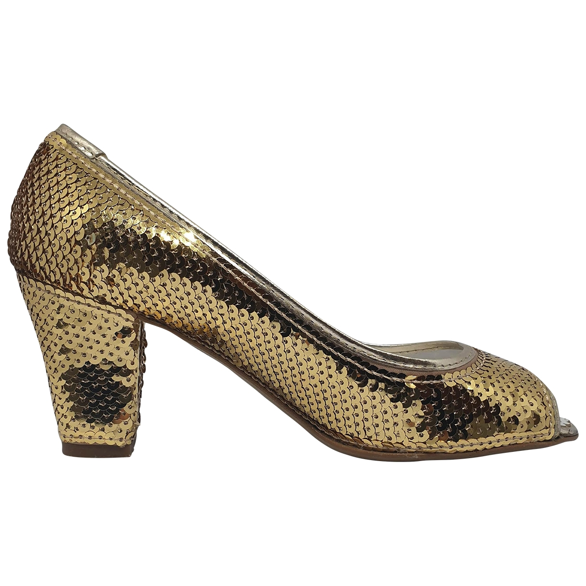 Moschino Cheap And Chic \N Gold Glitter Heels for Women 35 IT