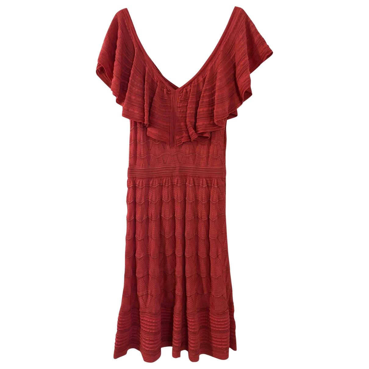 M Missoni - Robe   pour femme en coton - rose