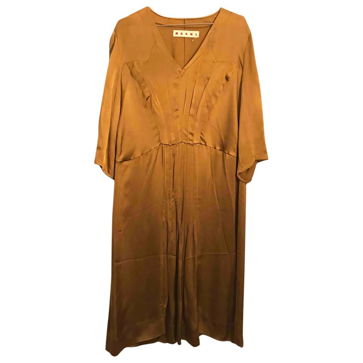 Marni \N Kleid in  Gold Viskose