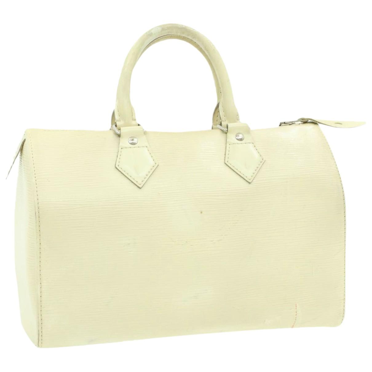 Louis Vuitton - Sac a main Speedy Doctor 25 pour femme en cuir - blanc