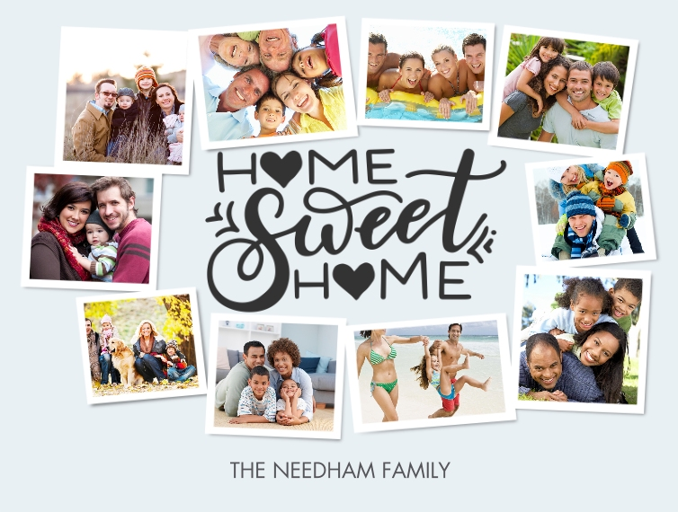 Family + Friends Plush Fleece Photo Blanket, 60x80, Gift -Blanket Home Sweet Home Heart by Tumbalina