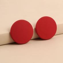 Einfarbige runde Ohrstecker