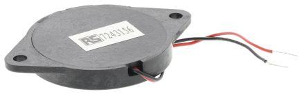 RS PRO 1 → 30 V dc 90dB Panel Mount Square Wave External Piezo Buzzer, 4800 → 6200 Hz (2)