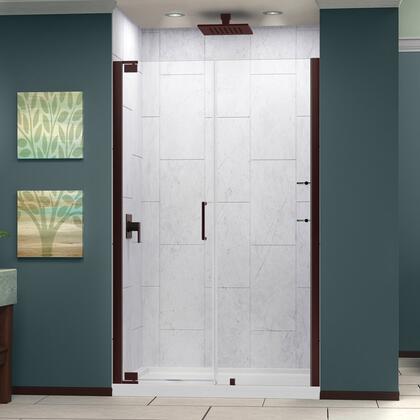 SHDR-4154720-06 Elegance 54 1/2 - 56 1/2 In. W X 72 In. H Frameless Pivot Shower Door In Oil Rubbed
