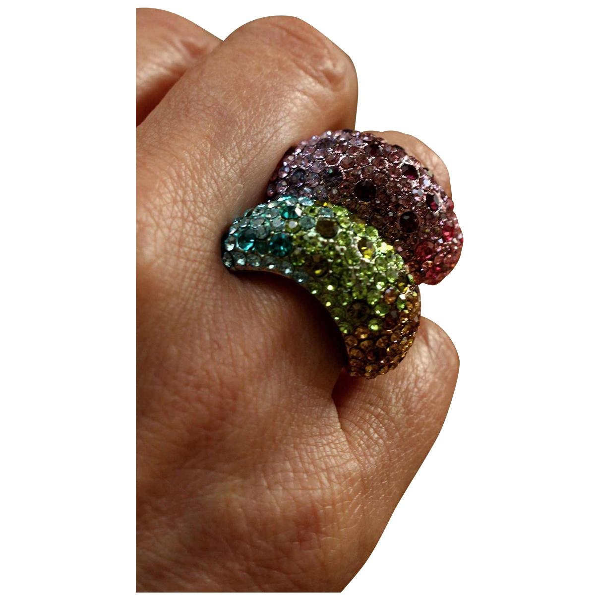 - Bague   pour femme en metal - multicolore