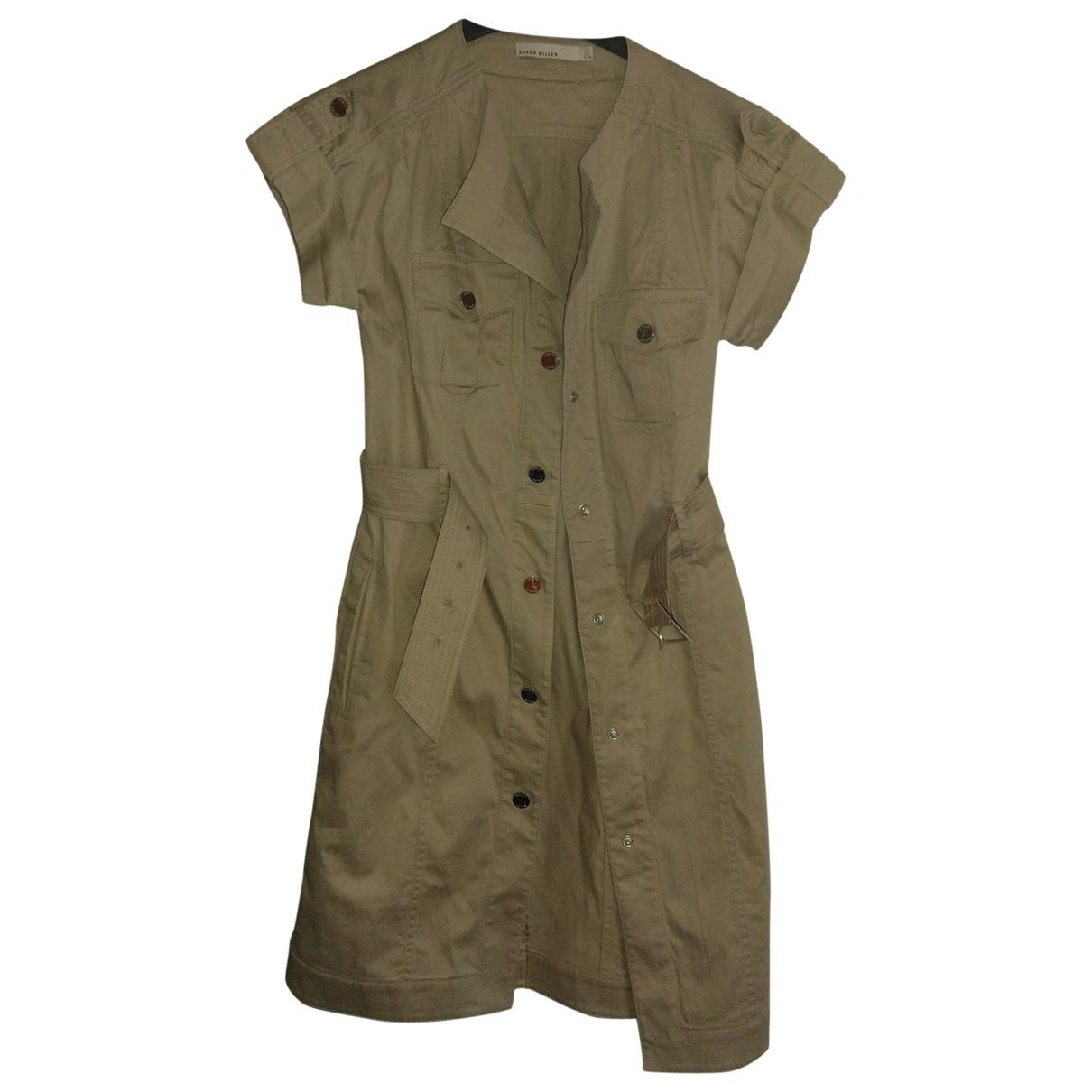 Karen Millen \N Beige Cotton dress for Women 4 US