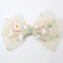 Horquilla de niñitas con diseño de lazo con patron de flor
