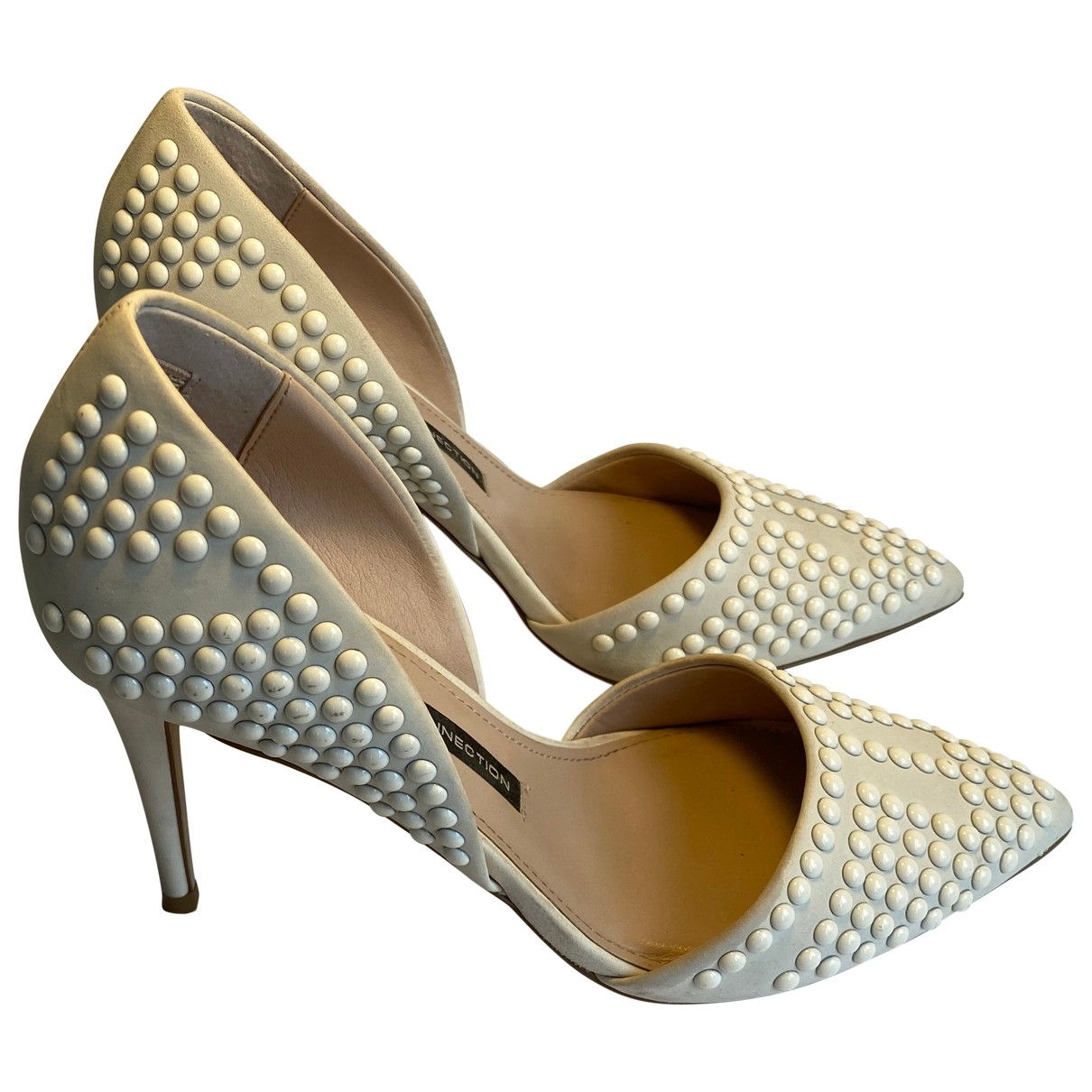 French Connection \N Beige Leather Heels for Women 38 EU
