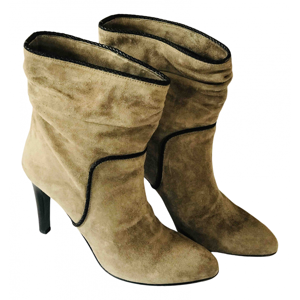 Furla N Brown Suede Ankle boots for Women 37 EU