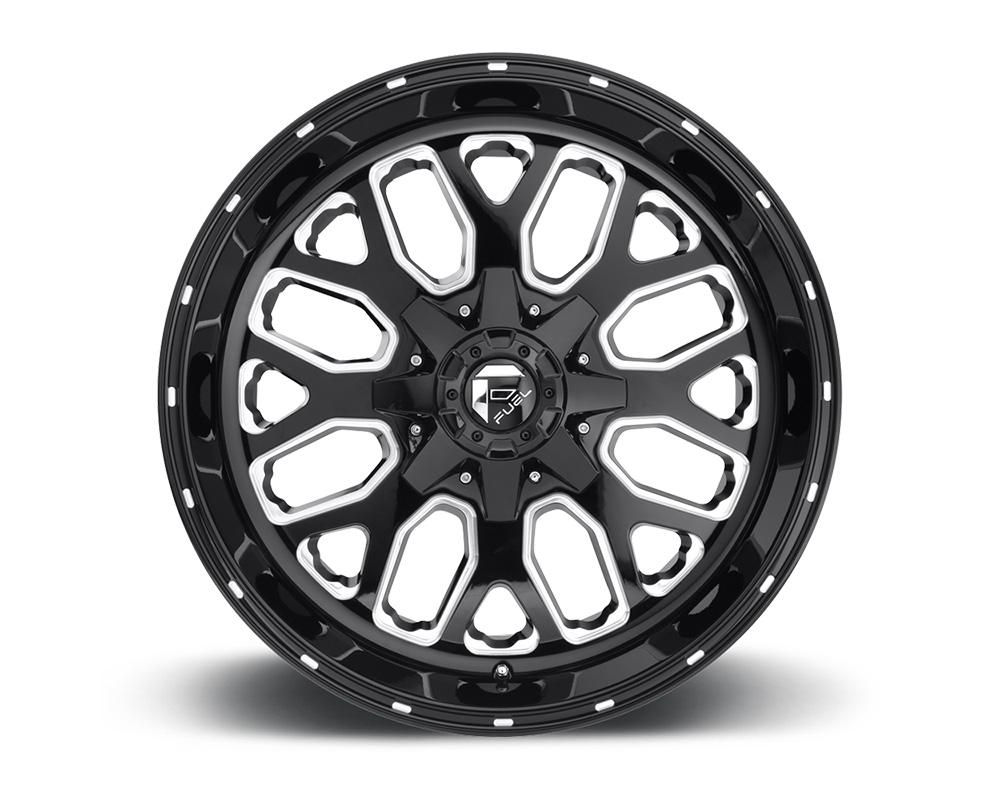 Fuel D588 Titan Black & Milled 1-Piece Cast Wheel 20x9 6x135|6x139.7 01mm