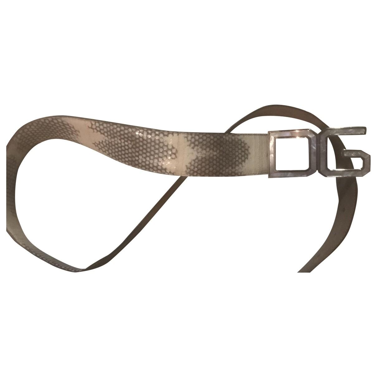 Dolce & Gabbana \N Beige Exotic leathers belt for Men 95 cm