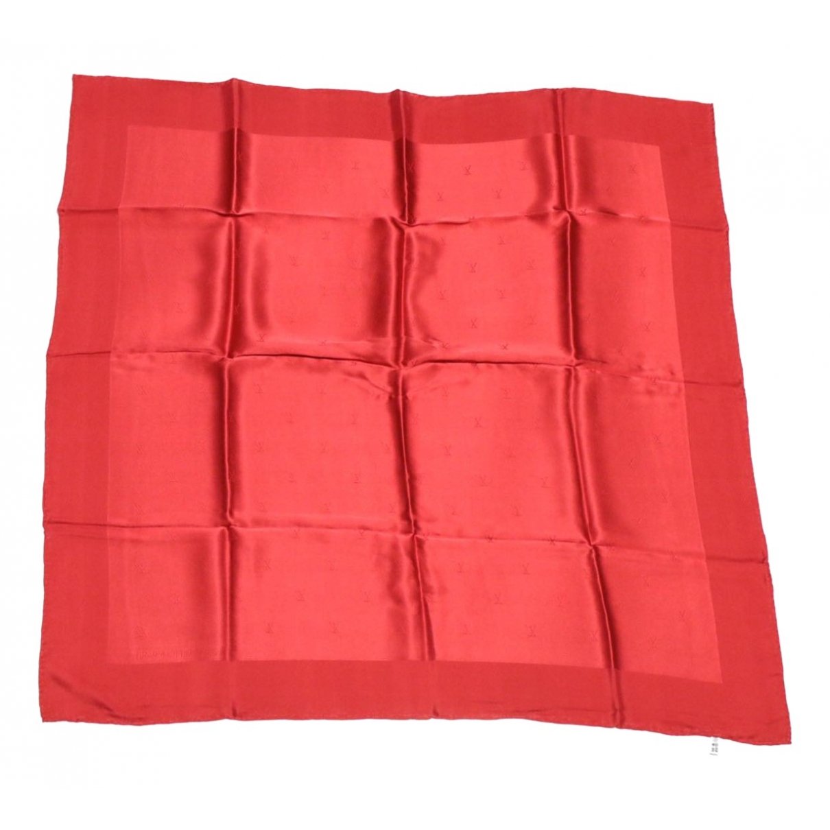Louis Vuitton \N Red Silk scarf for Women \N