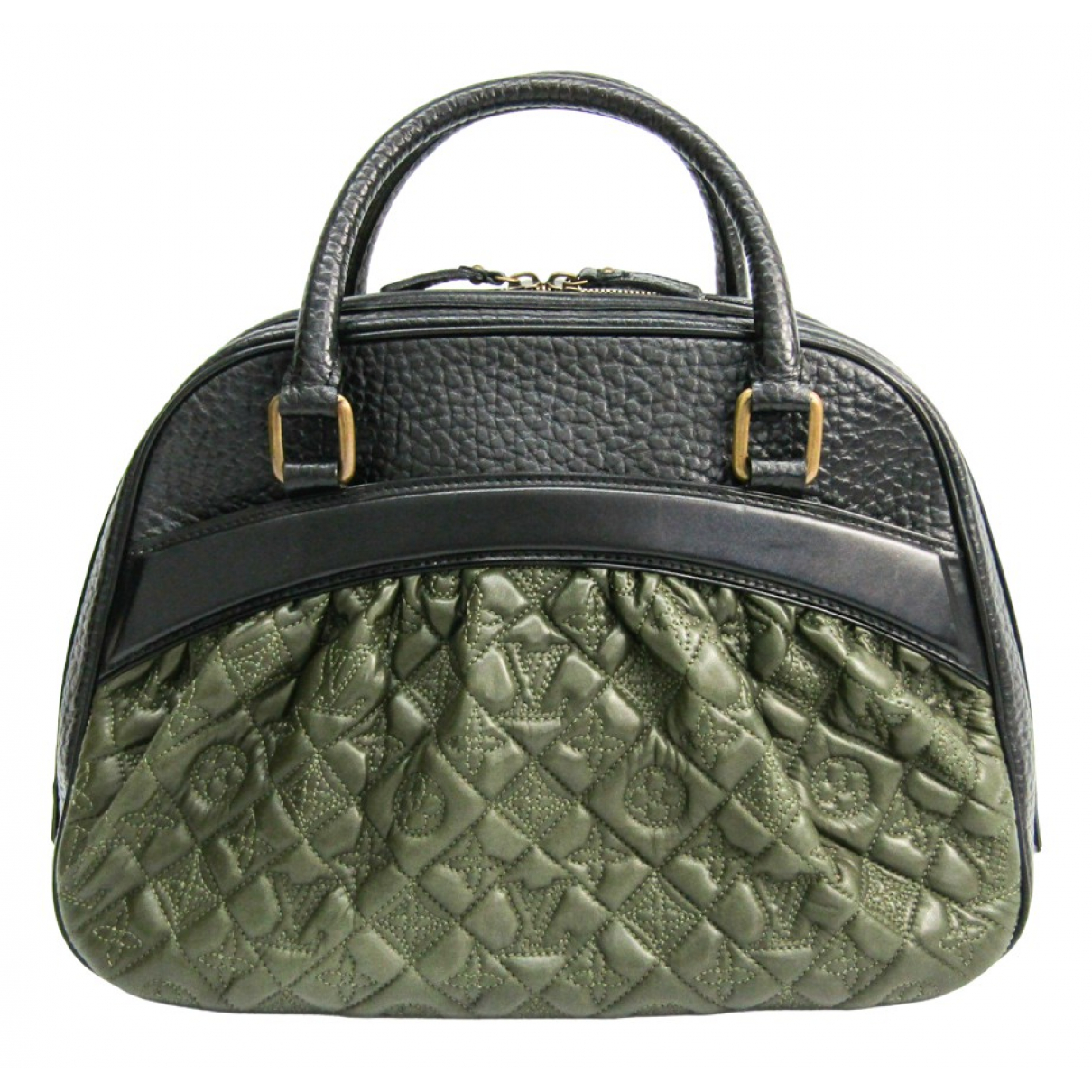 Louis Vuitton \N Handtasche in  Khaki Leder