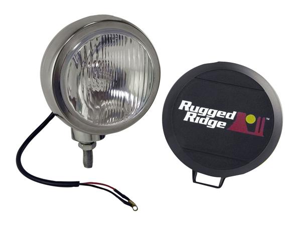Rugged Ridge 15206.01 Light Kit, HID, 6 Inch, Round, Stainless Steel Housing