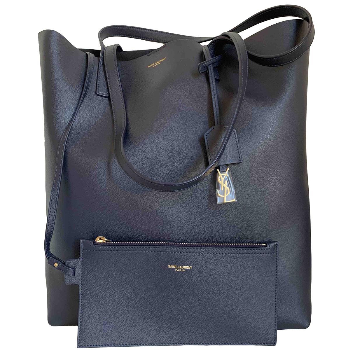 Saint Laurent Shopping Blue Leather handbag for Women N